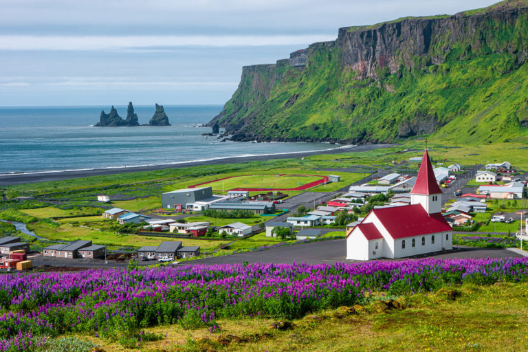 Landscape of Vík in South Iceland - featured
